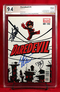 DAREDEVIL #1 PGX 9.4 NM Near Mint signed x3 STAN LEE, YOUNG, WAID!! HTF!! +CGC!!