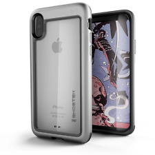 Ghostek Atomic Slim Rugged Heavy Duty Case for iPhone X - Silver