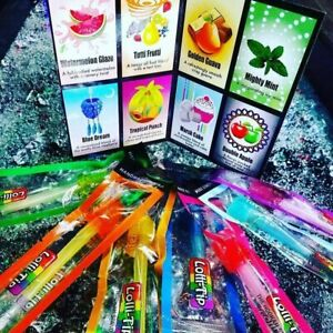 8 Hard Candy LolliTips Hookah Hand Dipped Mouth Lolli-Tips Mix Flavors Tips