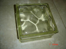 Rare - Vintage - Reclaimed Architectural Wavy Glass Block - 8 x 8 x 4 - Clean