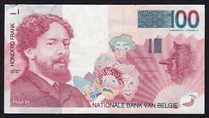 Belgium 100 Francs Banknote 1999 - 2001 P-147a.2