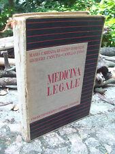 1937 MANUALE MEDICINA LEGALE ILLUSTRATO DI MARIO CARRARA DA GUASTALLA VOLUME I°