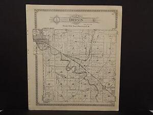 Nebraska Harlan County Map Emerson or Spring Grove Townships 1921  P5#60