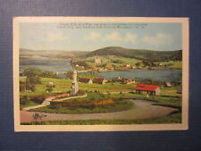 Old 1938 - GASPE - Quebec - Canada POSTCARD - Harbour from Ursuline Monestery