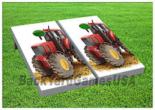 VINYL CORNHOLE BEANBAG Boards Old Red Tractor Wraps 1125