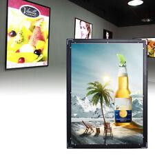 LED Poster Light Box Frame Illuminated Display Advertising Height Adjustable