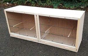 """Double Canary Breeding Cage  38"""" x 15 x 12  With BLACK FRONTS"""