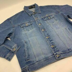 Men's Rocawear Med Blue Sandblast Denim Jacket