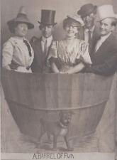 1910s RP POSTCARD CINCINNATI OH BACHELOR STUDIO BARRELL OF FUN PHOTO NOVELTY