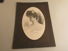 Antique 1905 Lithograph Print Portrait Of A Victorian Woman