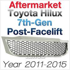 Front Chrome Grill Grille Black Mesh For Toyota Hilux 2011-2015 SR SR5 KUN TU