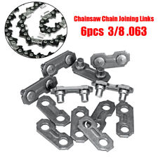 6pcs 3/8 .063 Steel Chainsaw Chain Joiner Link  for JOINING Chains 17.5mmx6.9mm