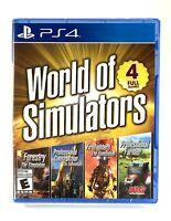 World of Simulators Playstation 4 / PS4 BRAND NEW & SEALED (4 Simulation Games)