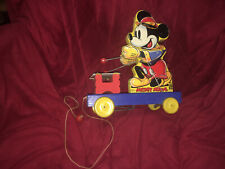 Old DISNEY 1939 Mickey Mouse Xylophone Wooden Pull Toy 798 FISHER PRICE USA Work