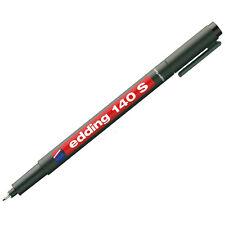 Edding140S Faserstift 0,3mm schwarz permanent Folienschreiber Marker Tinte