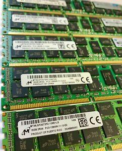 64GB (4X16GB) DDR3 PC3-12800R ECC Reg Server Memory RAM Dell Precision T3600