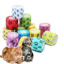 Cute Pet Dog Cat Vet Wound Elastic Cohesive Bandage Self Adherent Wrap Tape