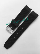 NEW 22mm Black Silicon Rubber Diver Watch band strap For IWC 354702 series