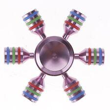 Fidget Hand Spinner DIY Hexagon Light Metal Desk Pink Fidget Spinner Toy FSP-6s