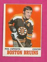 1970-71 OPC # 11 BRUINS PHIL ESPOSITO EX-MT CARD (INV# D5919)