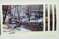 4 Ken Zylla Commemorative North American Game Bird Series Signed Prints VGC