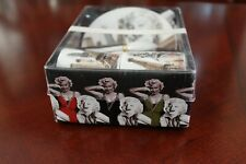 MARILYN MONROE LEGEND LIFE ESPRESSO CUPS AND SAUCERS WITH TEASPOONS PRE-OWNED