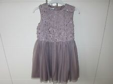 Girls Age 10 Tigerlily Taupe Sequin Floral Bodice Dress