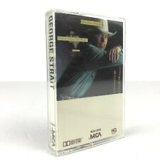 """George Strait Cassette """"Strait From The Heart"""" White Cover MCAC-39315"""