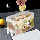 Water Jug With Faucet Lemon Fruit Cool Teapot Water Bottle Kettle Refrigerato 5L