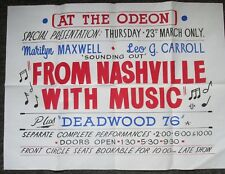 FROM NASHVILLE WITH MUSIC VINTAGE HAND-PAINTED COUNTRY & WESTERN MOVIE POSTER*