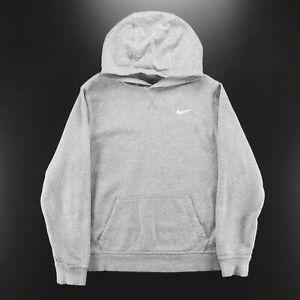 NIKE  Grey Classic Pullover Hoodie Boys XL