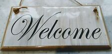 WELCOME Wall Plaque Sign 15cm x 7.7cm Handmade