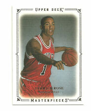 2009 10  Upper Deck Masterpieces #MADR Derrick Rose Bulls NM NBA Card Insert