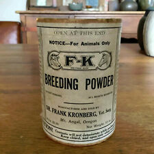 Rare Breeding Powder Veterinary Medicine Dr. Frank Kronberg Mt. Angel Oregon