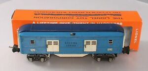 Lionel 2615  Vintage O Blue Comet Two-Tone Blue Tinplate Baggage Car EX/Box