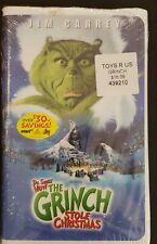 How the Grinch Stole Christmas (Vhs, 2001, Clamshell) New/Sealed - Free Shipping