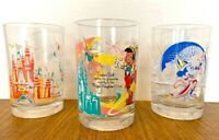 Vintage McDonalds Disney Anniversary Glasses Set of 3