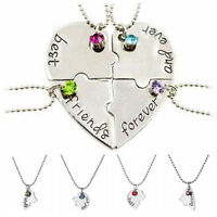 Hot Sale Puzzle Love Heart Friendship Necklace Best Friend Forever And Ever Pop.