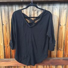 Anthropologie Light Weight Black Sweater Size SP