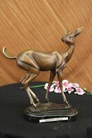 Signed Female Deer in Forest Stag Statue Home Office Decoration Art Decor Deal