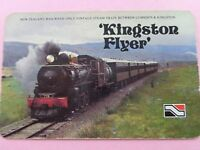 OLD VINTAGE  KINGSTON FLYER  VINTAGE STEAM TRAIN  SWAP PLAYING CARD.
