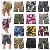 Mens Casual Street Cargo Shorts Army Military BDU Camo Shorts Work Shorts