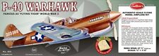 Guillows 1/16 scale P-40 Warhawk balsa flying model #405LC