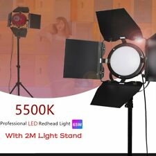Continuous Led Red Head Lighting Kit 65W 5500K Photo Studio Light Stand Kit