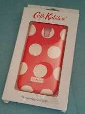 Cath Kidston Samsung Galaxy S4 Hardshell Back Phone Case-Red White Spots-BNIB