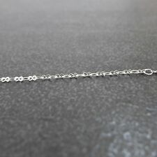 925 Sterling Silver,1m,2.8mm,Peanut Flat Cable Unfinished Chain.Jewelry Craft