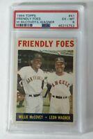 1964 Topps Friendly Foes Willie McCovey / Leon Wagner #41 - PSA 6