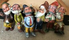 Leprechauns a Rare Set of 6 Vintage Hong Kong Celluloid/Hard Plastic Leprechauns