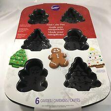NEW WILTON Christmas Mini Cake Pan Christmas Tree Gingerbread Man Jello Mold