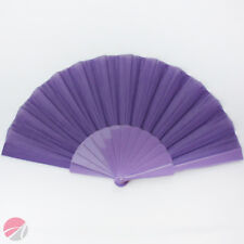 PURPLE Plastic/Fabric Hand Fan **IDEAL FOR HOLIDAYS**